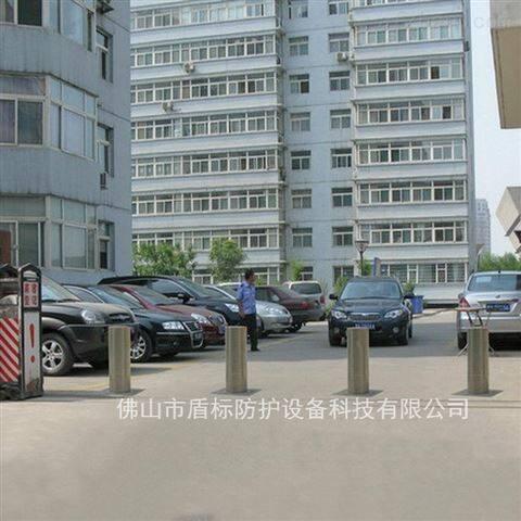 学校景区不锈钢车挡柱 自动收缩升降柱