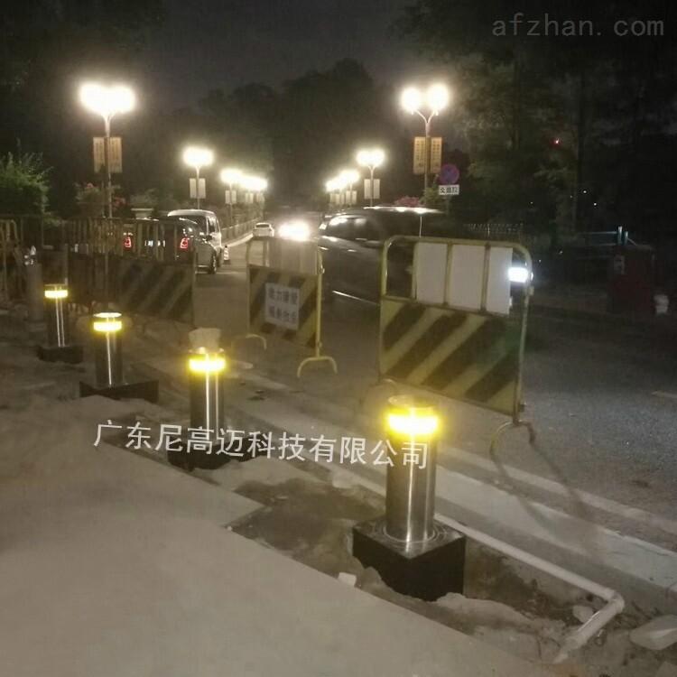 地埋式智能升降路桩安装