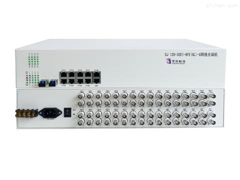 双光口保护32E1+8路物理隔离百兆网络光端机