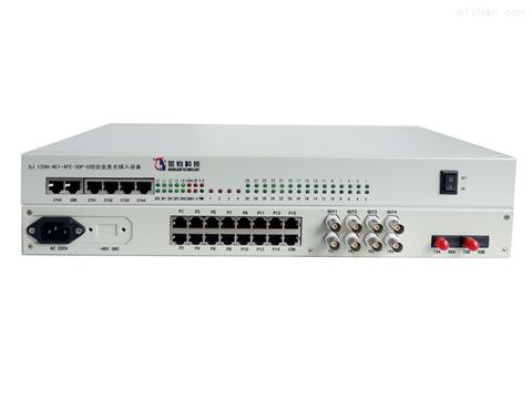 双光口保护4E1+4路百兆网络+30路业务接口综合业务光接入设备
