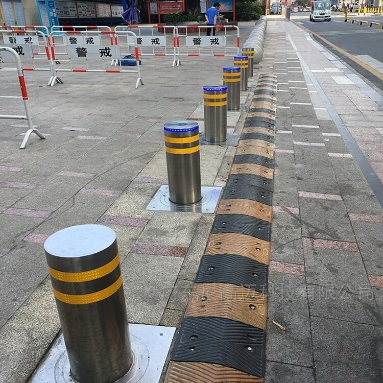 LED发光灯全自动不锈钢路桩 电动伸缩防撞柱