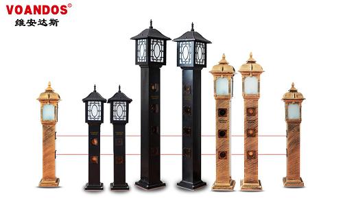 维安达斯灯饰型激光对射在别墅安防系统的应用